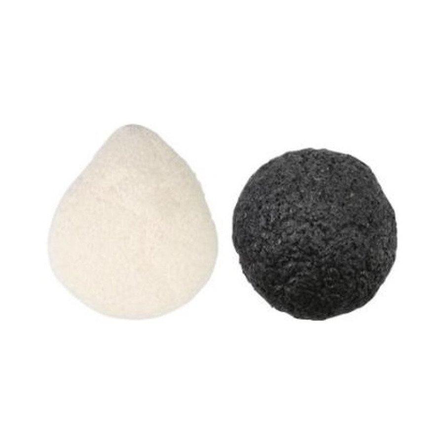 Cala Naturale Naturalna gąbka konjac do mycia twarzy - węgiel aktywny i pure 2 szt.