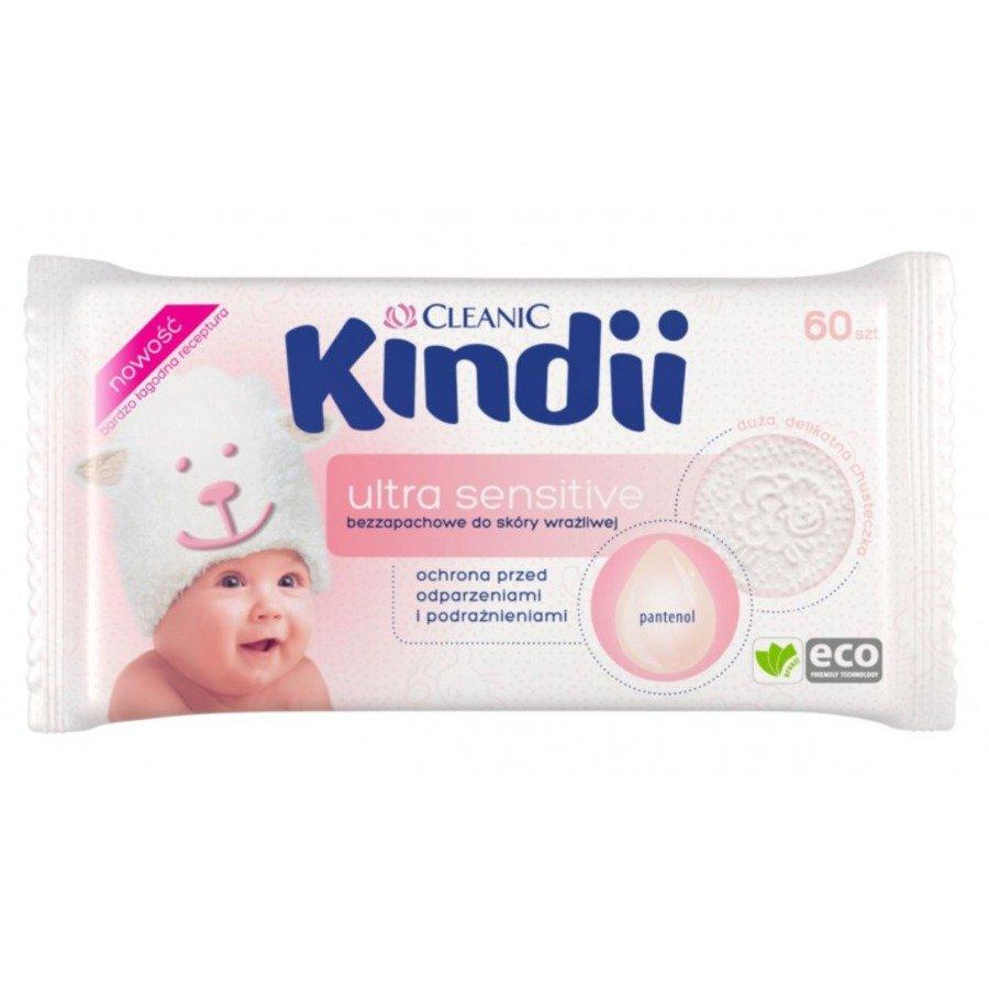 Cleanic Kindii ultra sensitive Hipoalergiczne chusteczki nawilżane