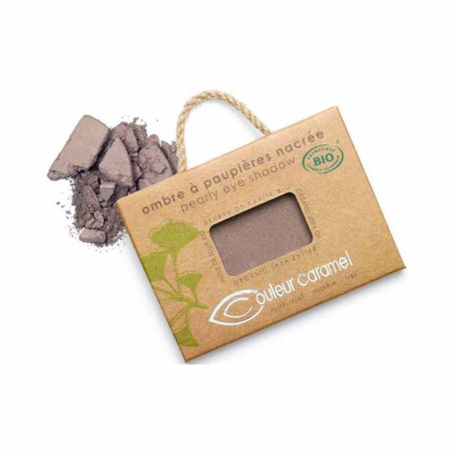 Couleur Caramel Naturalny cień do powiek satynowy 044 pearly plum brown