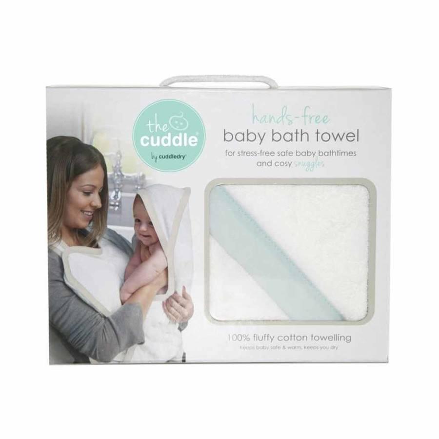 Cuddle Bawełniany ręcznik fartuch biały / miętowy