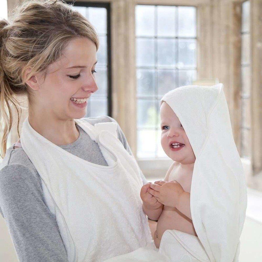 Cuddledry Baby Ręcznik dla dzieci fartuch biały