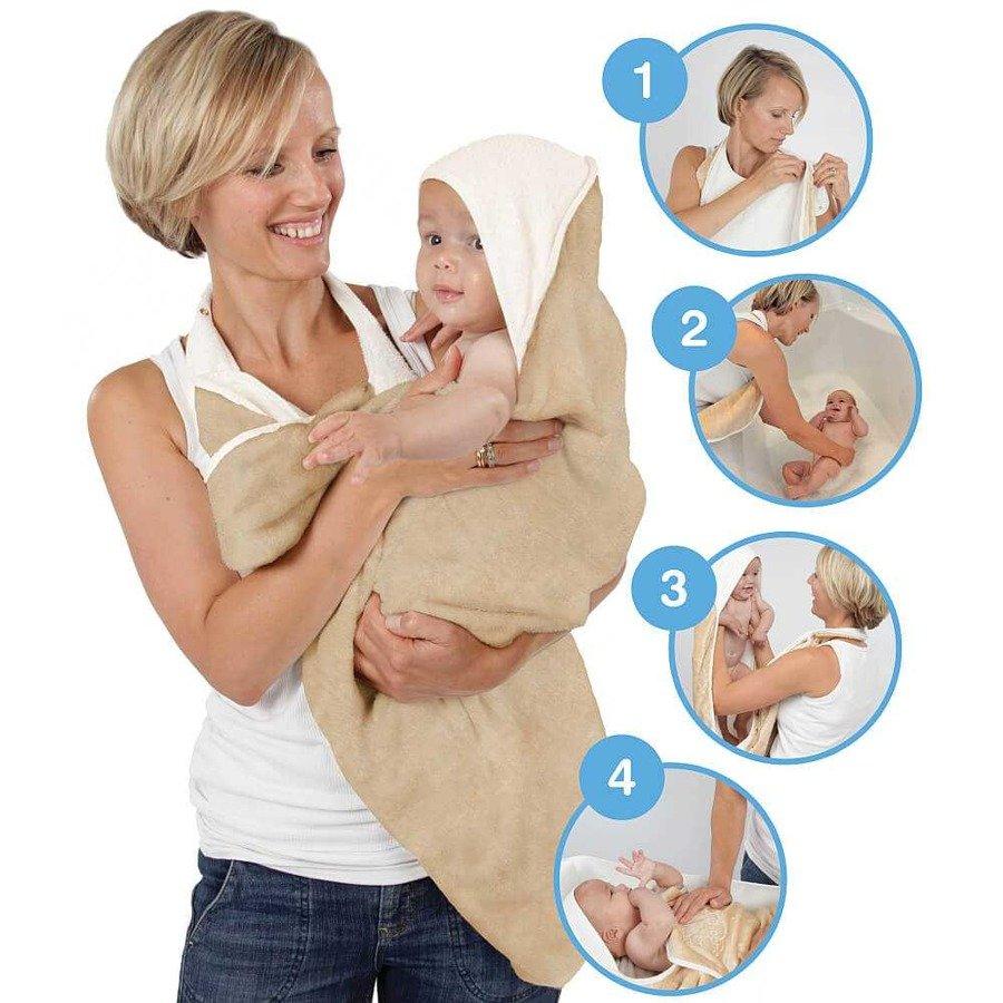 Cuddledry Baby Ręcznik dla dzieci fartuch gingham