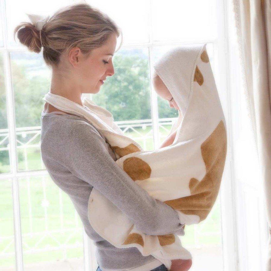 Cuddledry Baby Ręcznik dla dzieci krowie łatki