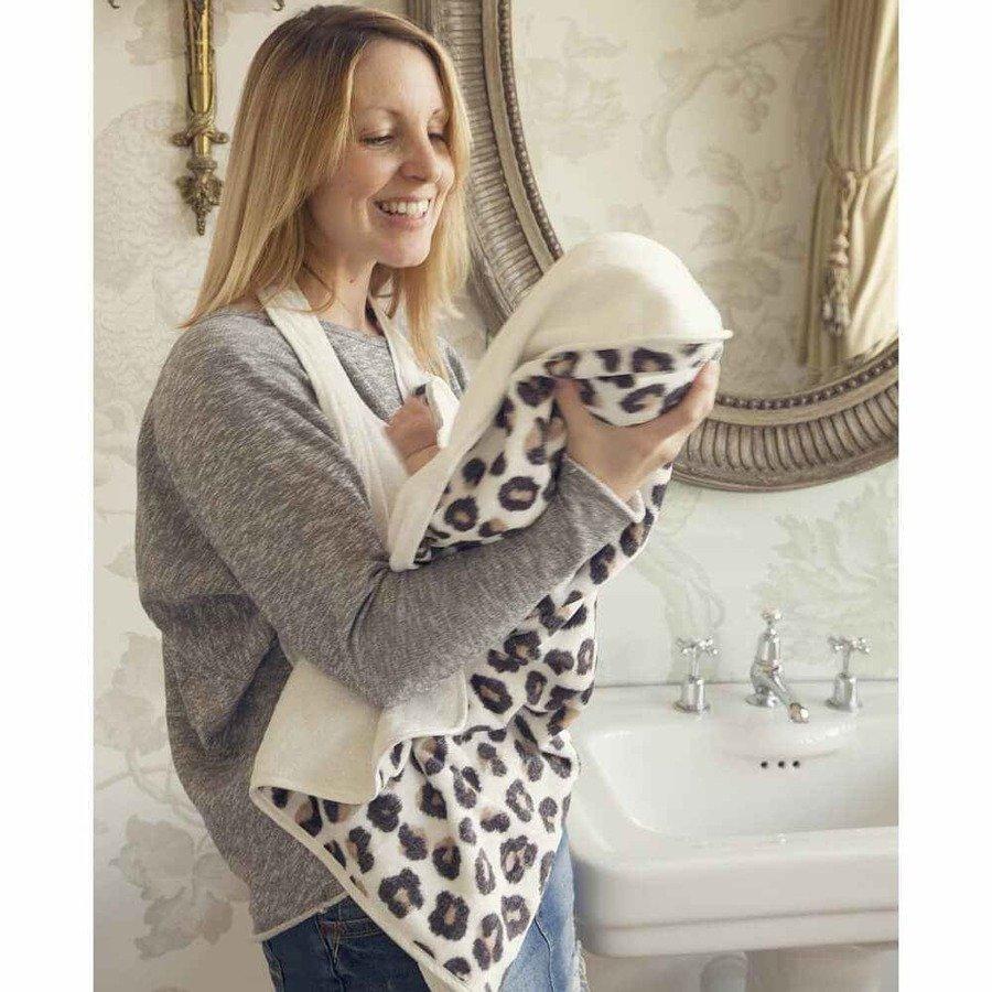 Cuddledry Baby Ręcznik dla dzieci panterka