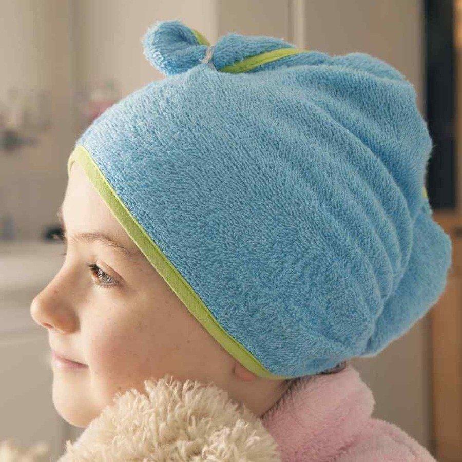Cuddledry Cuddletwist Ręcznik na włosy niebieski