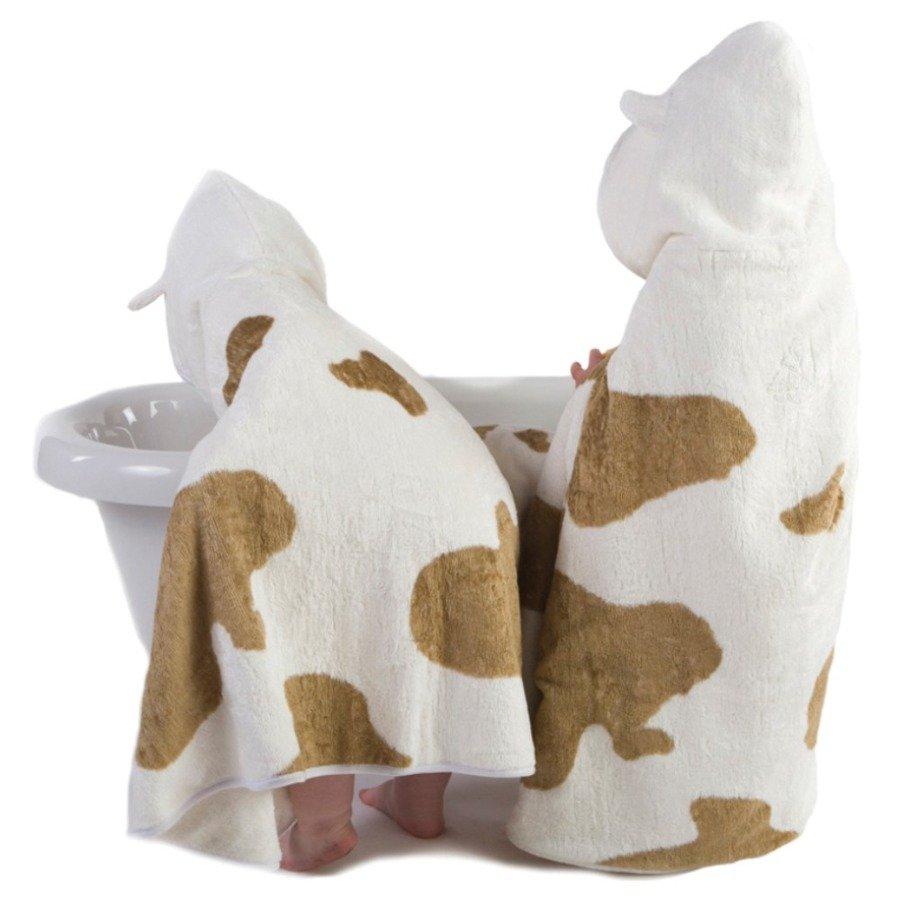Cuddledry Dziecięcy ręcznik bambusowy krowie łatki