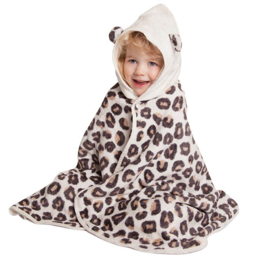Cuddledry Dziecięcy ręcznik bambusowy panterka