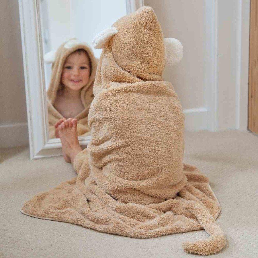 Cuddledry Dziecięcy ręcznik małpka