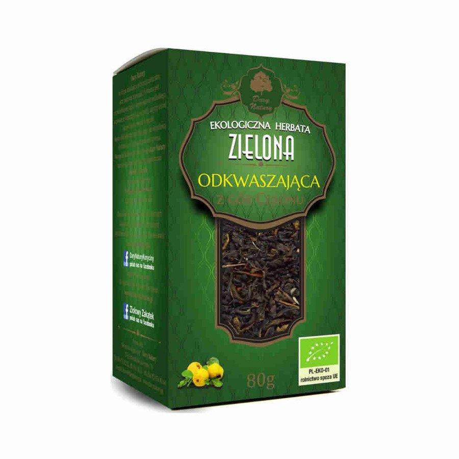 Dary Natury Ekologiczna herbata zielona odkwaszająca 80 g