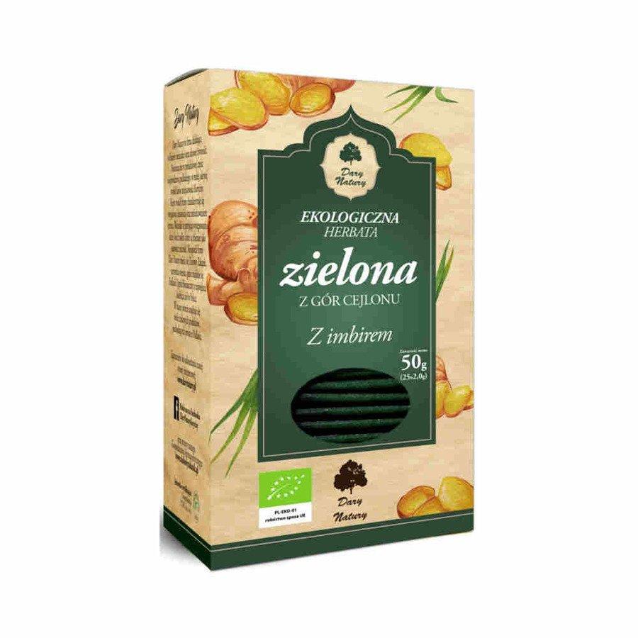 Dary Natury Ekologiczna herbata zielona z imbirem 25x2 g