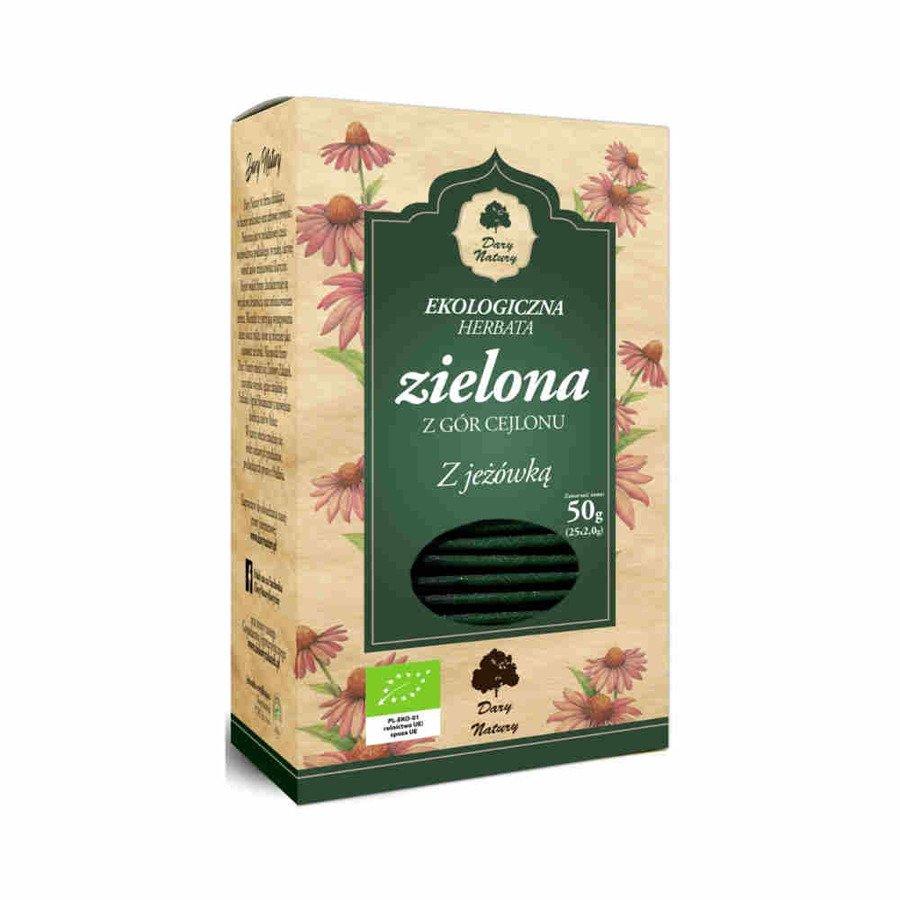 Dary Natury Ekologiczna herbata zielona z jeżówką 25x2 g