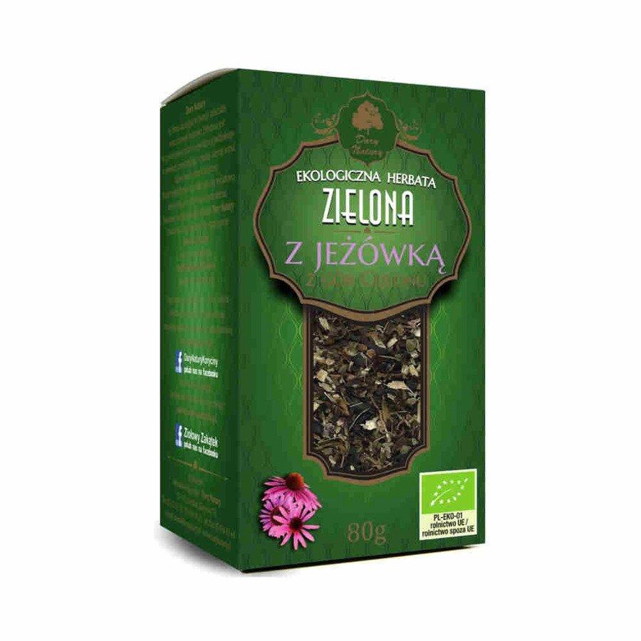Dary Natury Ekologiczna herbata zielona z jeżówką 80 g
