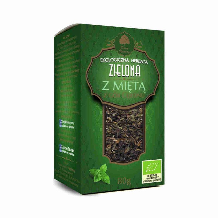 Dary Natury Ekologiczna herbata zielona z miętą 80 g