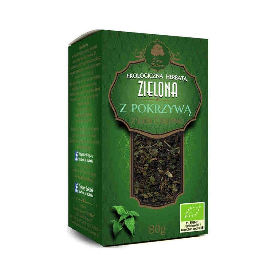 Dary Natury Ekologiczna herbata zielona z pokrzywą 80 g