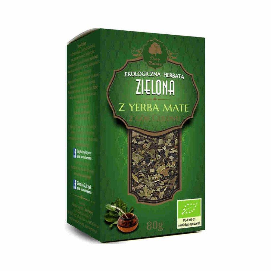 Dary Natury Ekologiczna herbata zielona z yerba mate 80 g