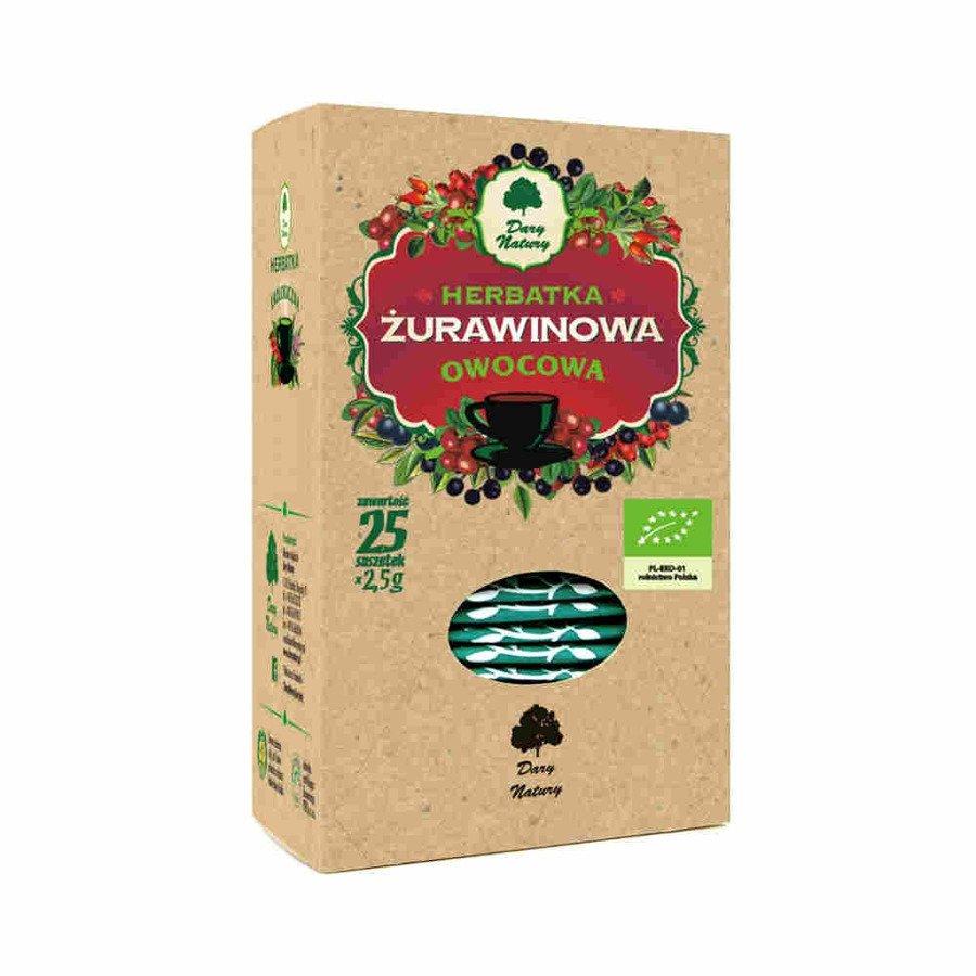 Dary Natury Ekologiczna herbatka żurawinowa 25x2,5 g