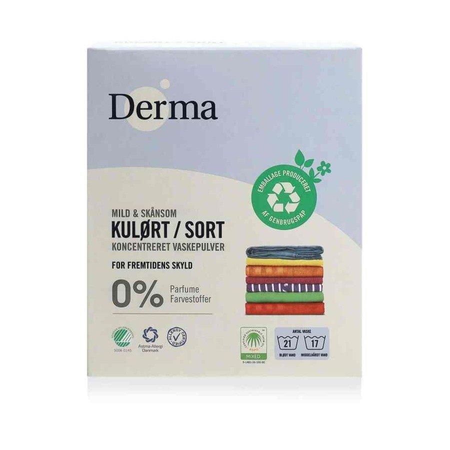 Derma Hipoalergiczny proszek do prania ubrań kolorowych i czarnych bezzapachowy 775 g