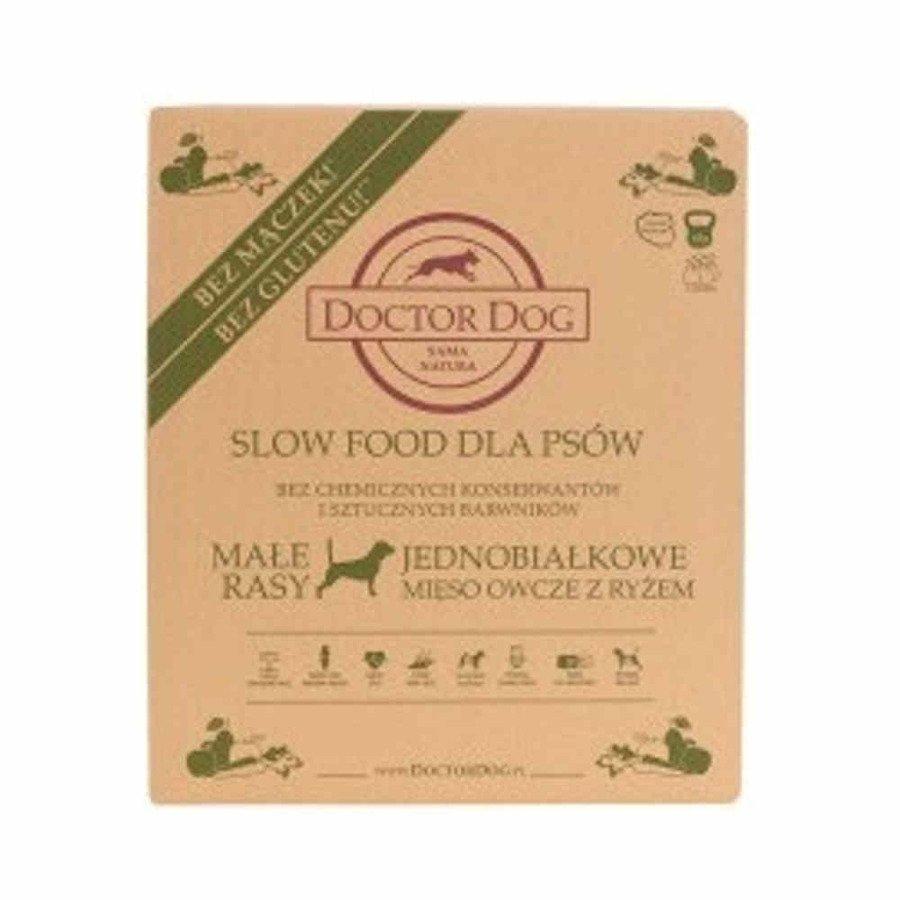 Doctor Dog Jednobiałkowa karma sucha dla psów małe rasy owca z ryżem 6 kg