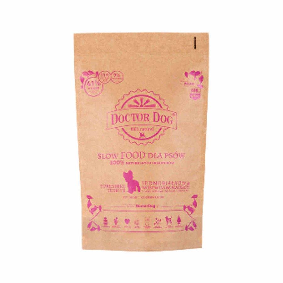 Doctor Dog York Jednobiałkowa karma sucha dla psów małe rasy wołowina na płatkach 400 g