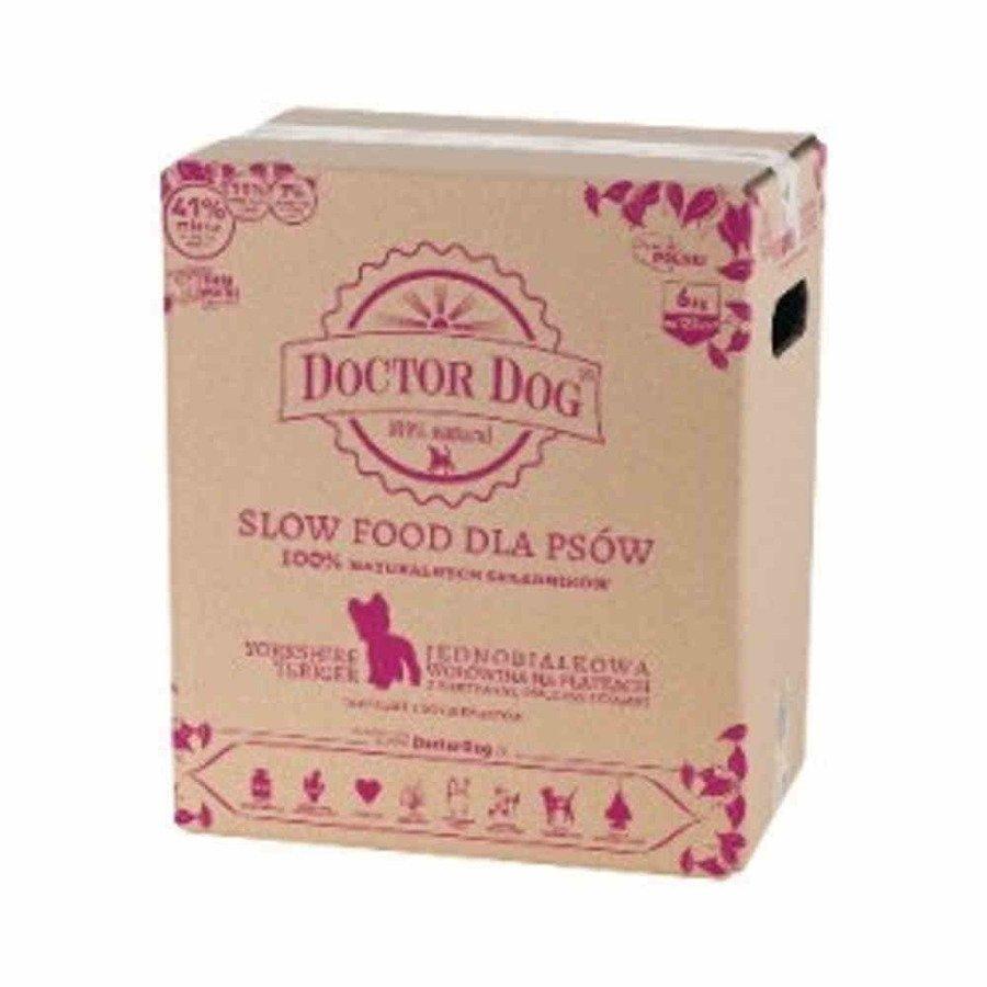 Doctor Dog York Jednobiałkowa karma sucha dla psów małe rasy wołowina na płatkach 6 kg
