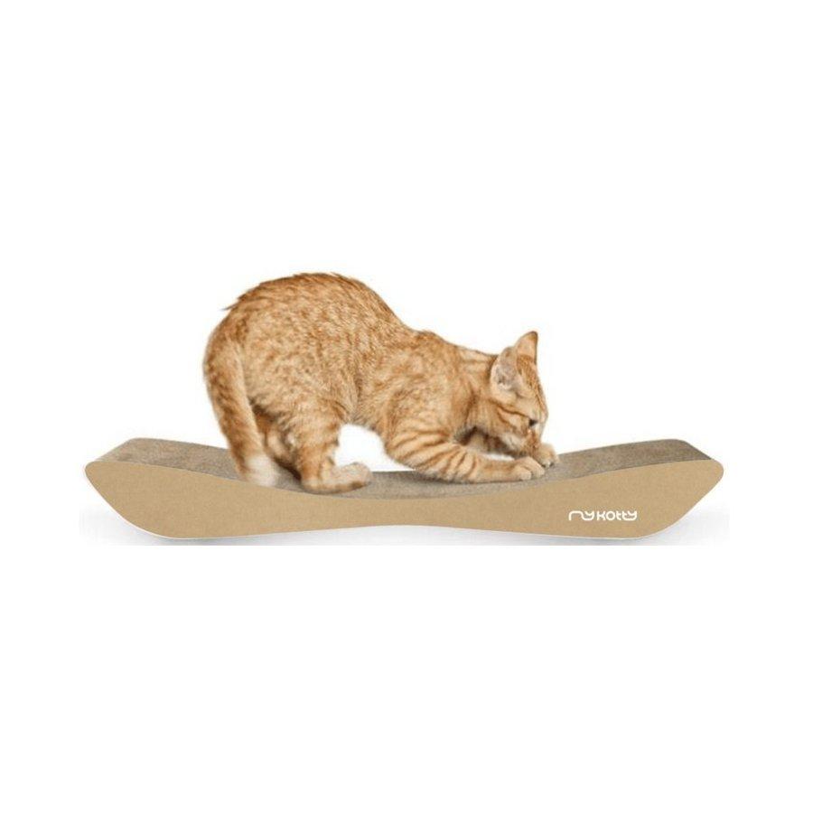 Drapak kartonowy dla kota Tobi Mykotty brązowy