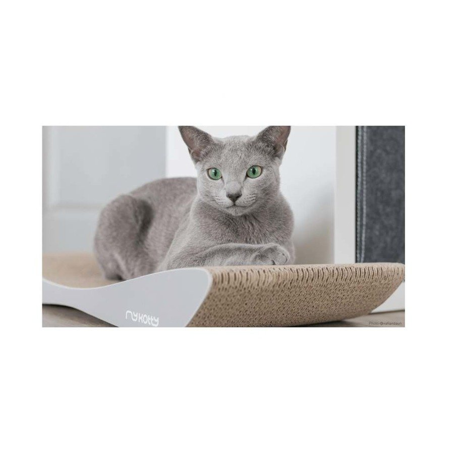 Drapak kartonowy dla kota szary Tobi Mykotty