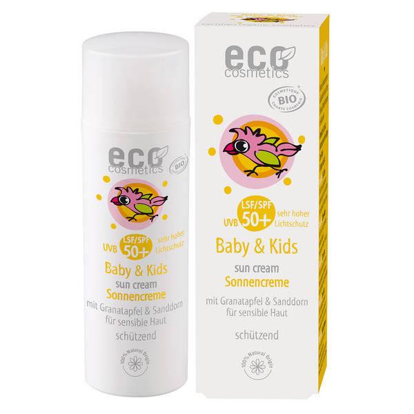 Eco Cosmetics Baby & Kids Krem na słońce dla dzieci i niemowląt SPF50+
