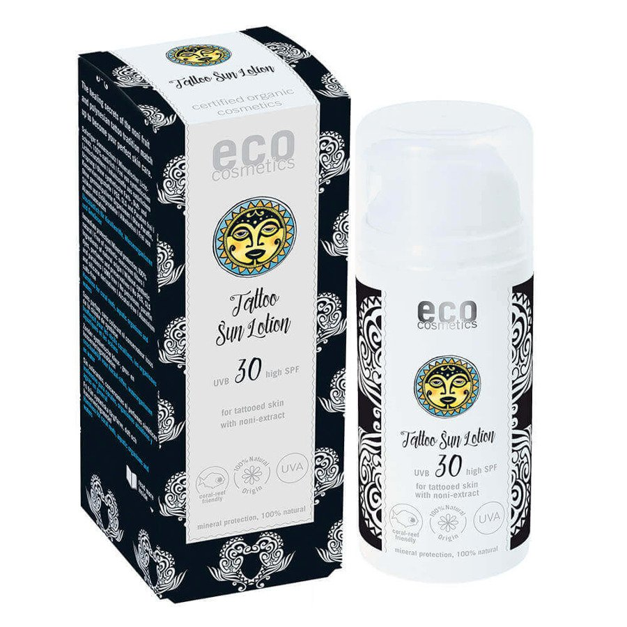 Eco Cosmetics Emulsja na słońce do skóry z tatuażami SPF30 100 ml