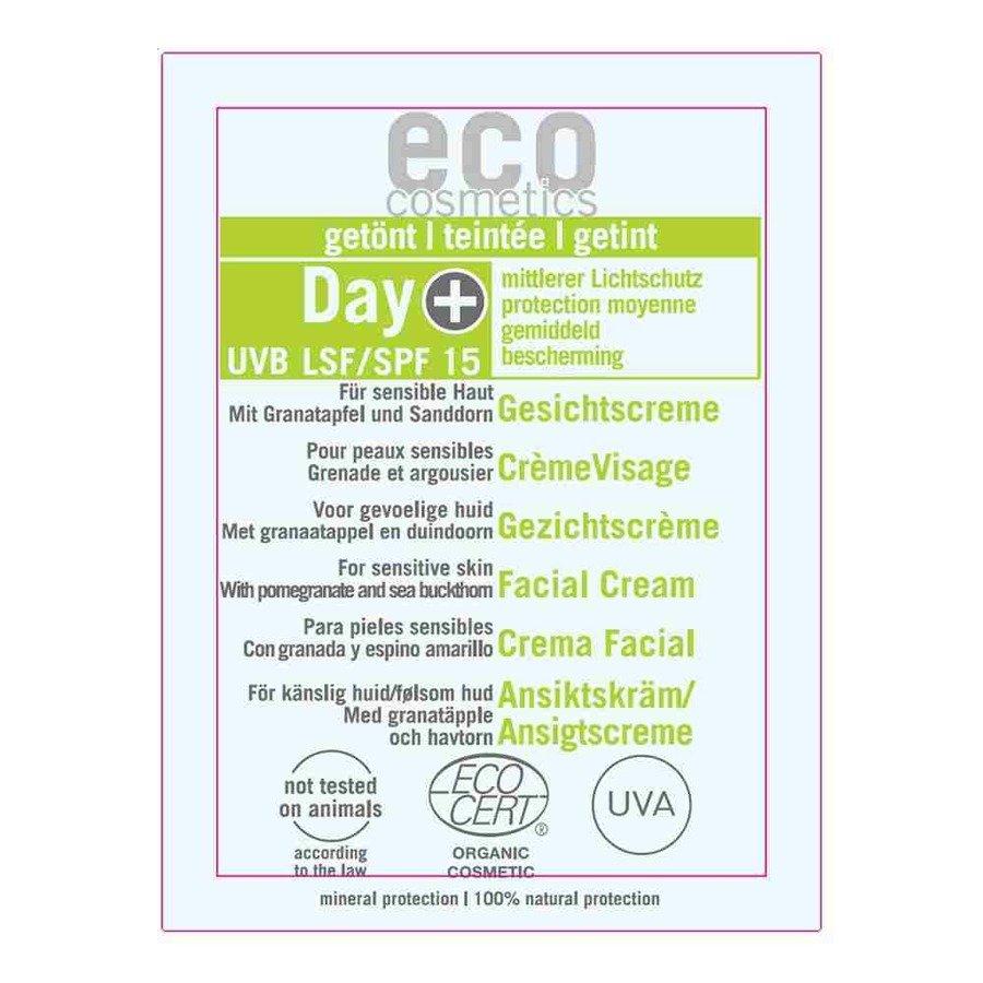 Eco Cosmetics Krem do twarzy na dzień delikatnie tonowany SPF15 2 ml