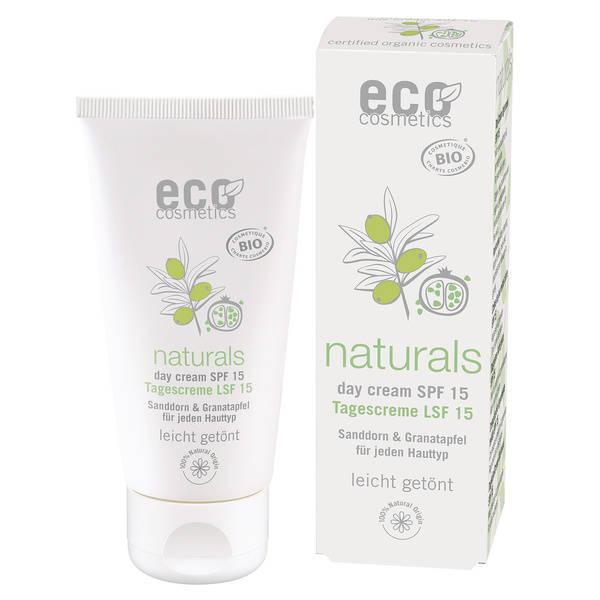 Eco Cosmetics Krem do twarzy na dzień delikatnie tonowany SPF15 50 ml