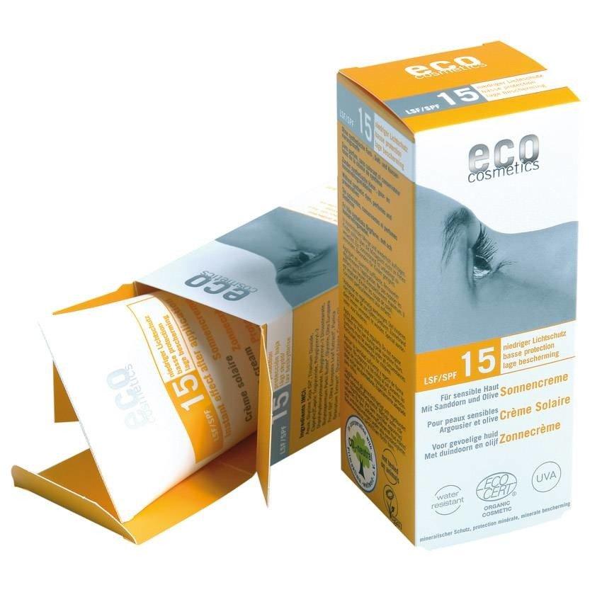 Eco Cosmetics Krem na słońce SPF15 75 ml