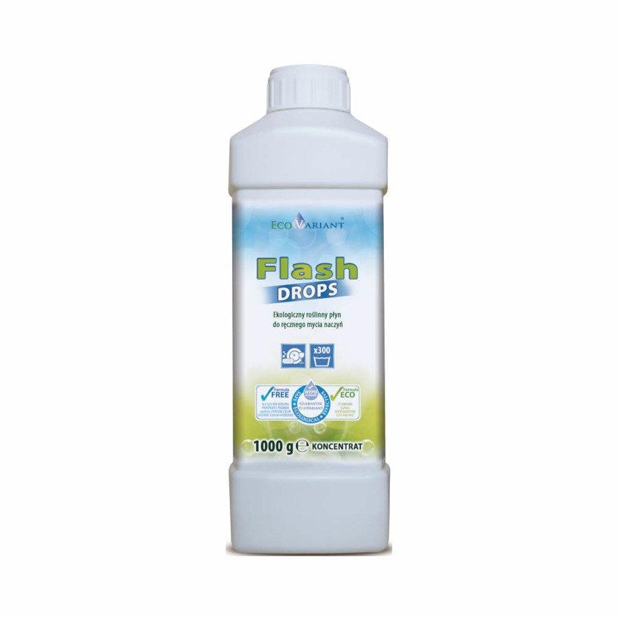 EcoVariant Flash Drops Ekologiczny płyn do ręcznego mycia naczyń z orzechów piorących (but. kwadrat) 1 kg