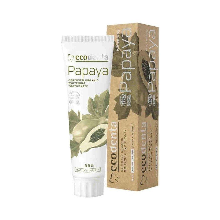 Ecodenta Papaya Organiczna pasta wybielająca do zębów 100ml