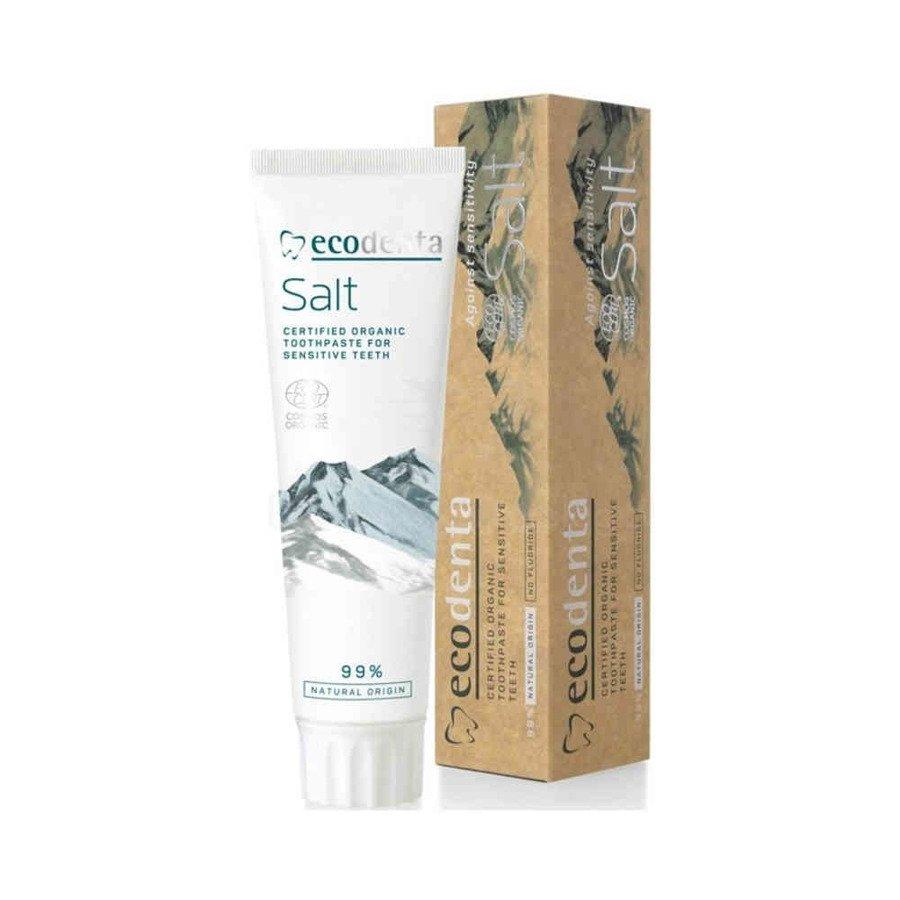 Ecodenta Salt Organiczna pasta do zębów wrażliwych z solą bez fluoru 100ml