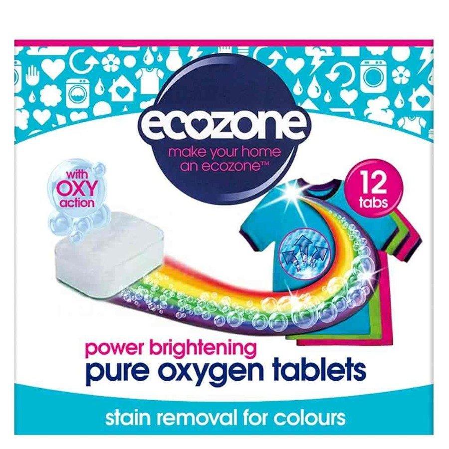Ecozone Odplamiacz do kolorów pure oxygen 12 tab.