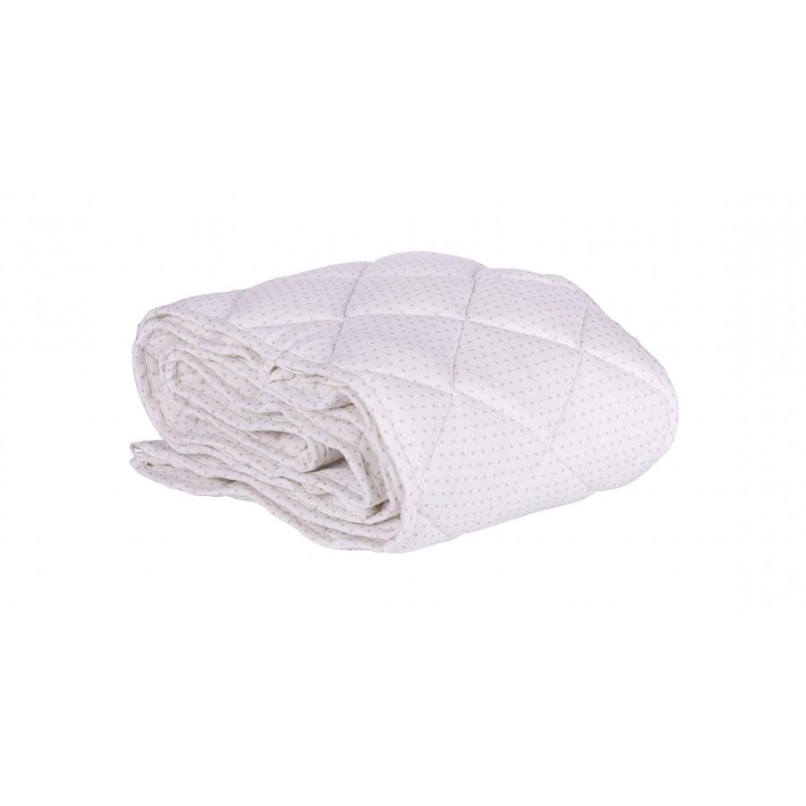 Effii Ochraniacz pikowany  na całe łóżeczko biały w szare kropki 70x140