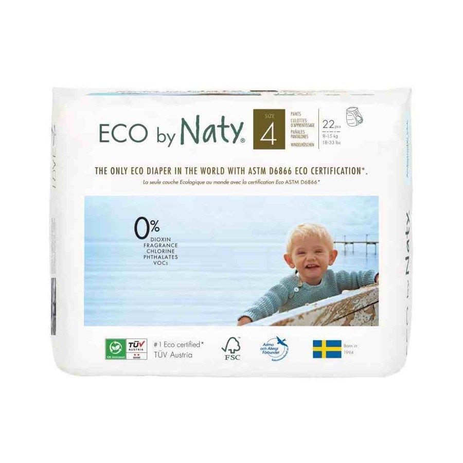 Ekologiczne pieluchomajtki jednorazowe Naty 4 8-15 kg 22 szt.