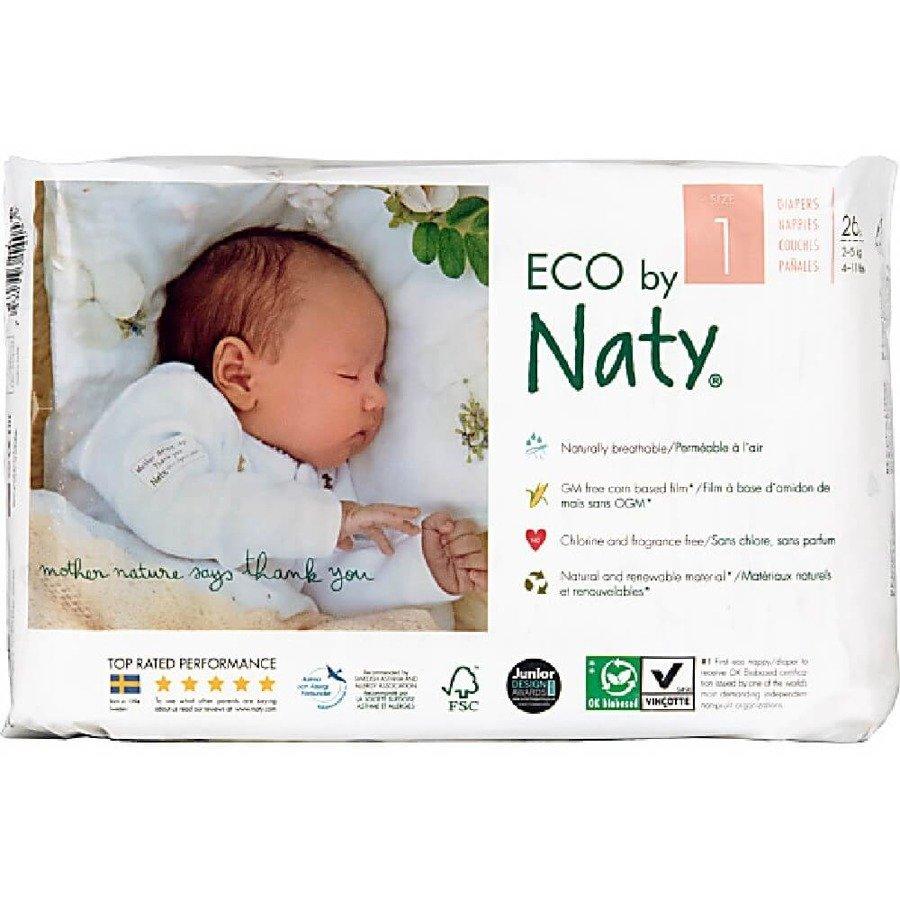 Ekologiczne pieluchy jednorazowe Naty 1 2-5 kg