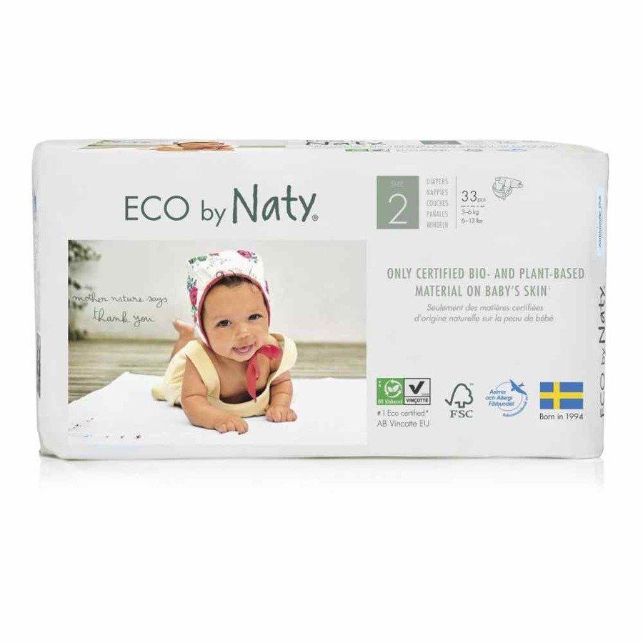 Ekologiczne pieluchy jednorazowe Naty 2 3-6 kg 33 szt.