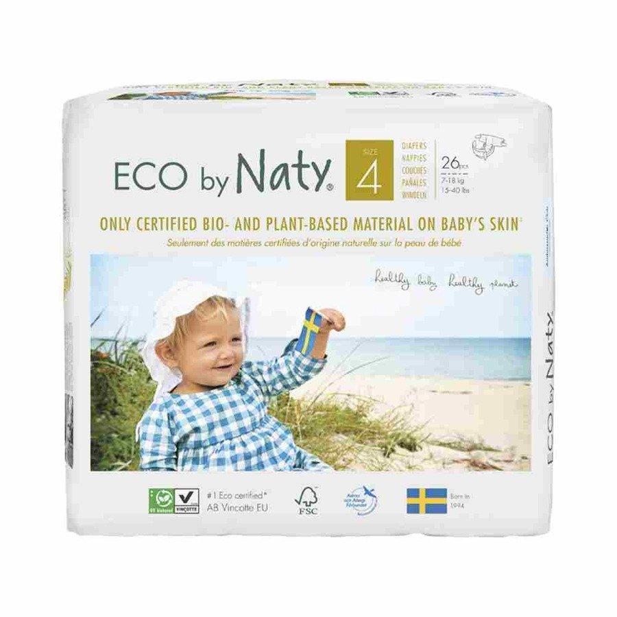 Ekologiczne pieluchy jednorazowe Naty 4 7-18 kg 26 szt.
