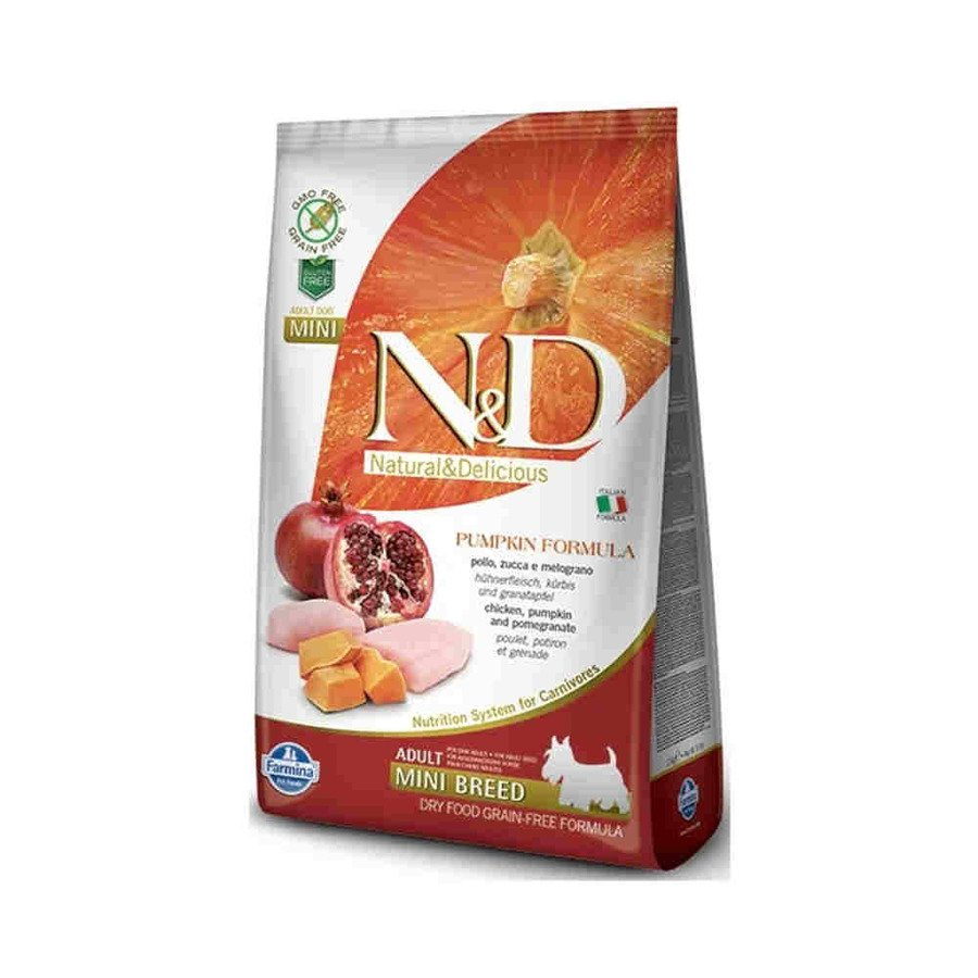 Farmina N&D Pumpkin GF Bezzbożowa karma sucha dla psów dorosłych ras małych z kurczakiem i dynią 800 g
