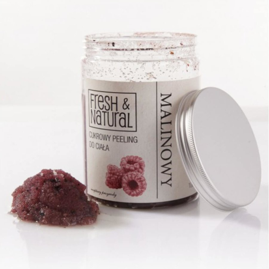Fresh&Natural Cukrowy peeling do ciała malinowy 1000g