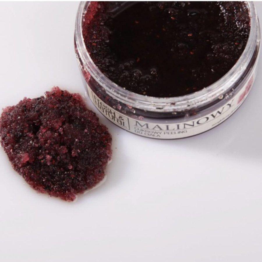 Fresh&Natural Cukrowy peeling do ciała malinowy 500g