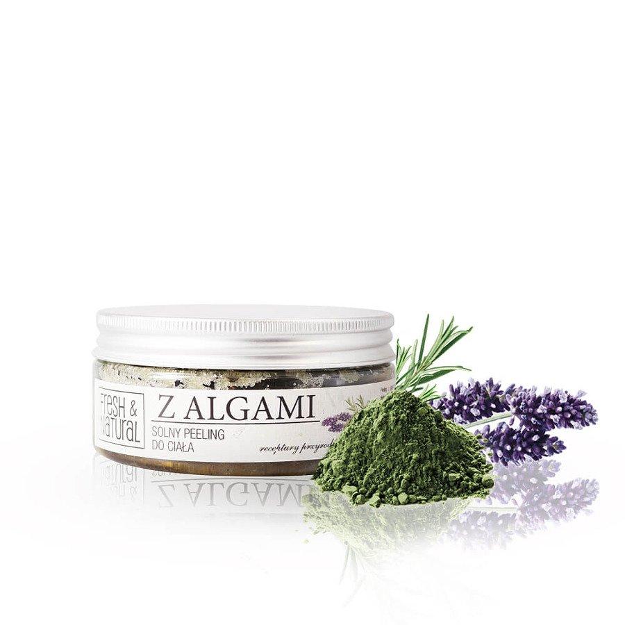 Fresh&Natural Solny peeling do ciała z algami 250g