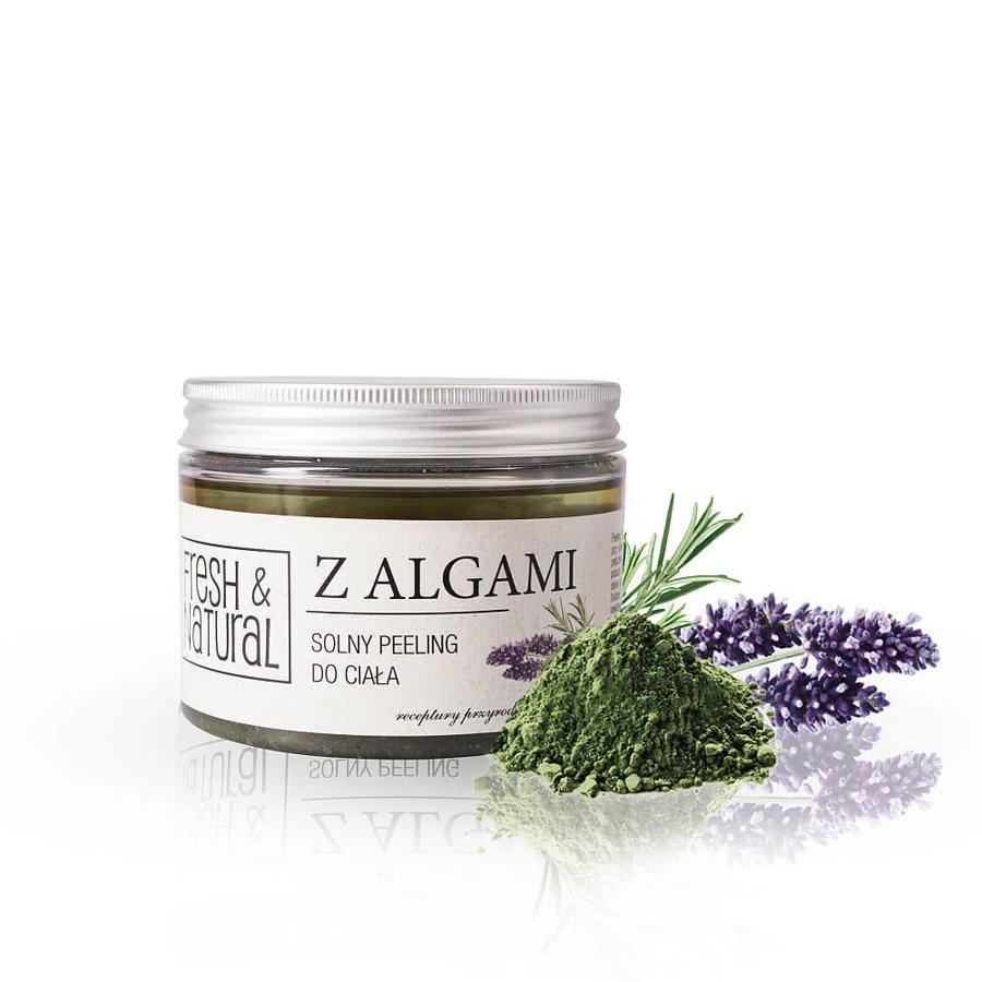 Fresh&Natural Solny peeling do ciała z algami 500g