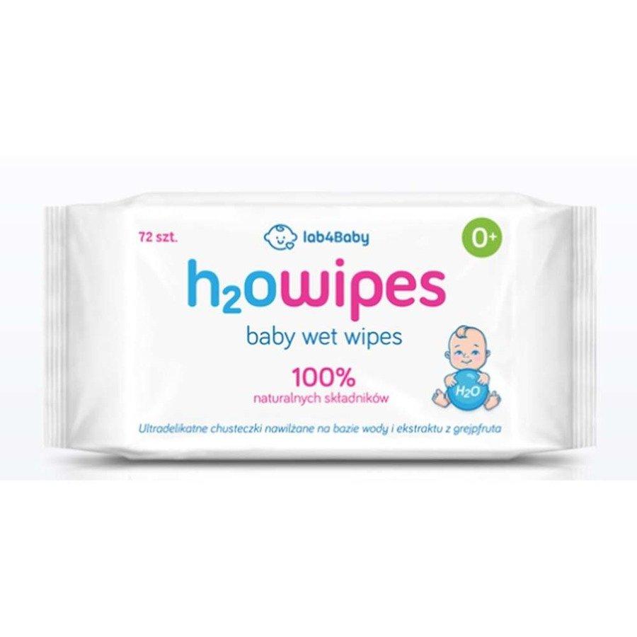 H2Owipes Chusteczki nawilżane dla dzieci i niemowląt 72 szt.