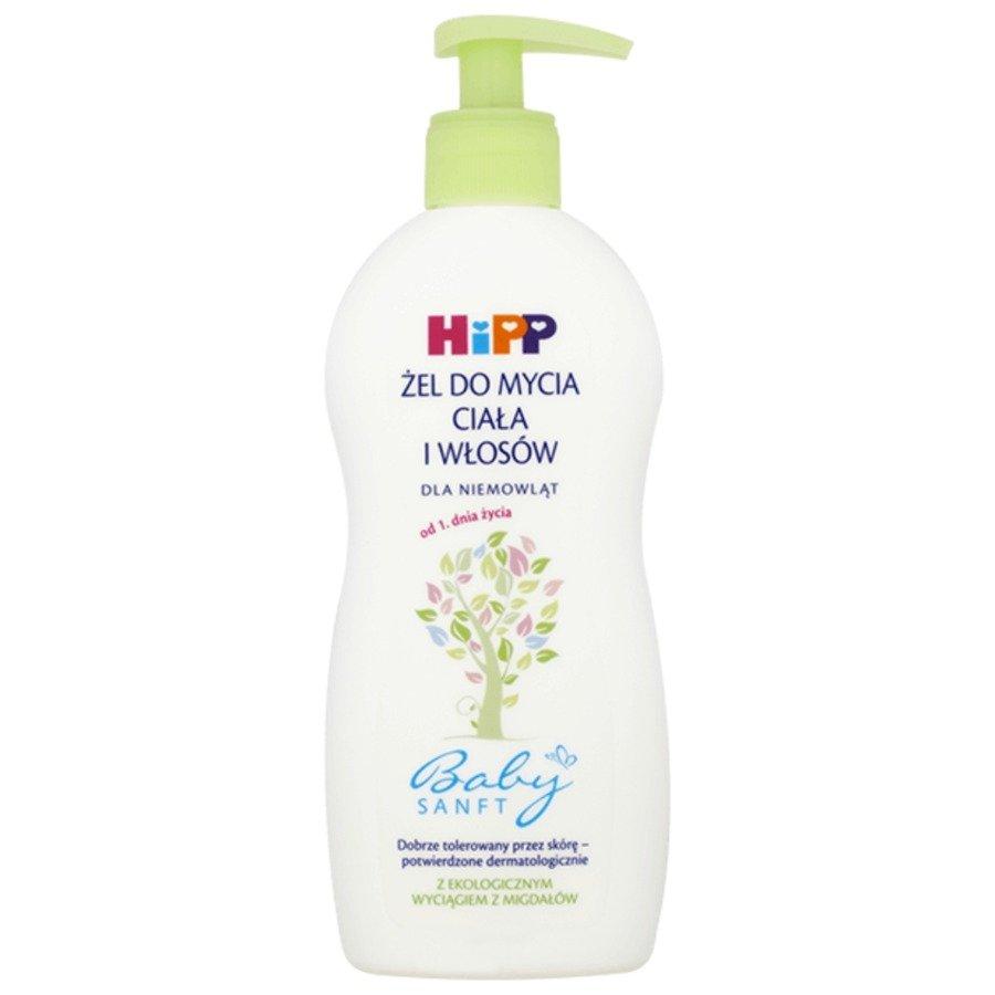 Hipp Babysanft Żel do mycia ciała i włosów dla niemowląt