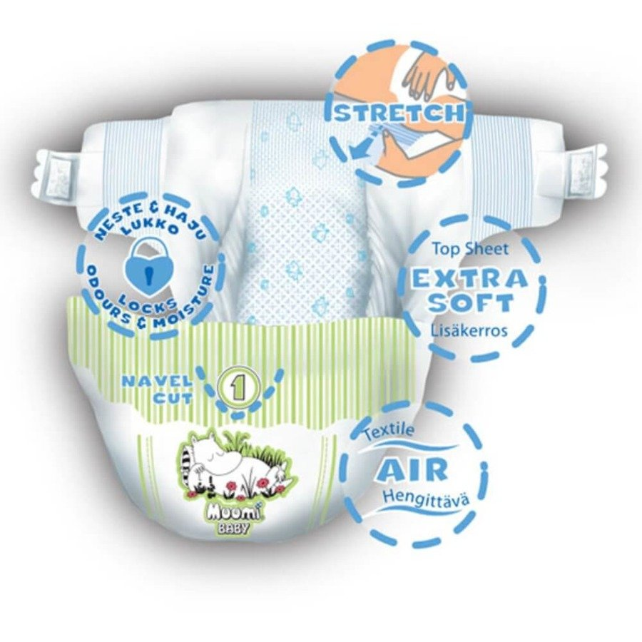 Muumi Baby 1 Pieluchy antyalergiczne jednorazowe 2-5 kg 25 szt.