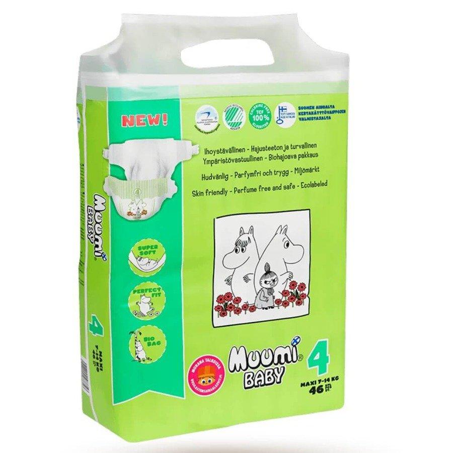 Muumi Baby 4 Pieluchy antyalergiczne jednorazowe 7-14 kg 46 szt.