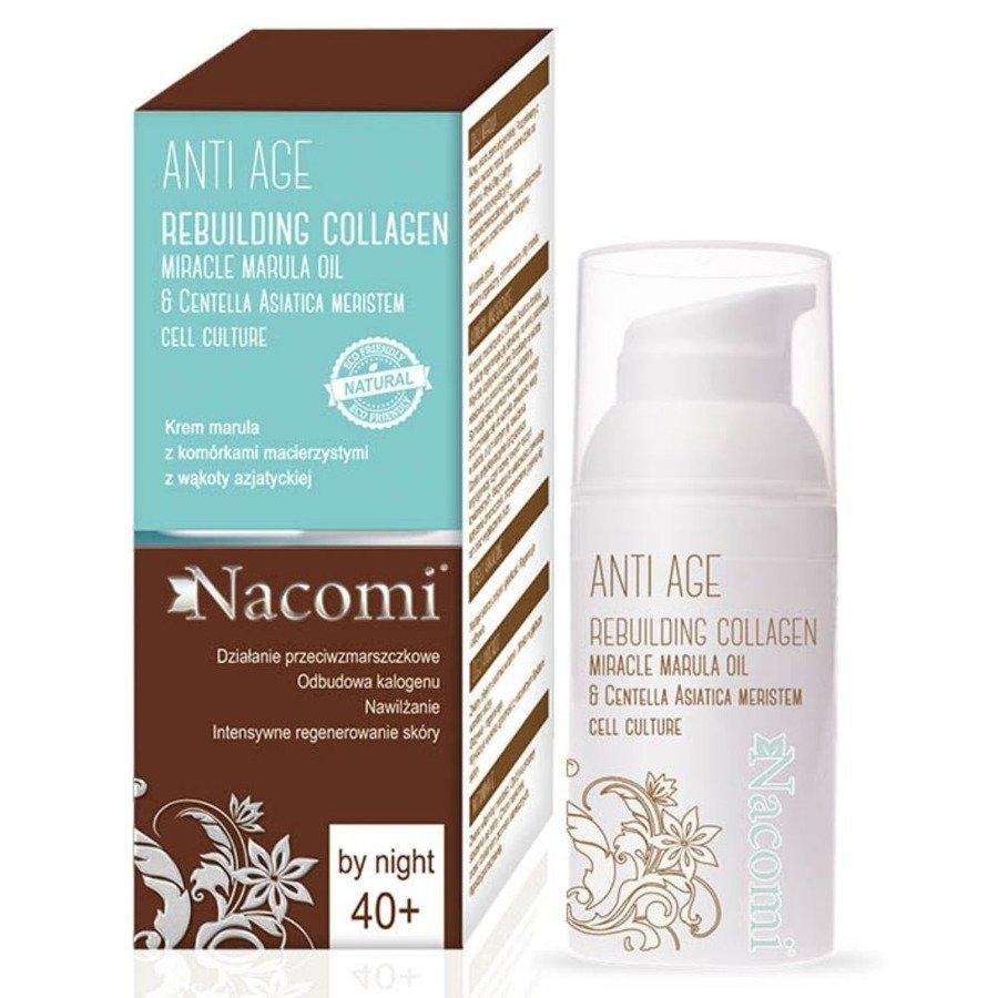 Nacomi Anti Age Krem przeciwzmarszczkowy marula z komórkami macierzystymi na noc 40+ 50 ml